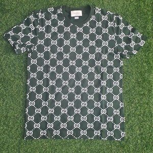 GUCCI MEN GREEN SHORT SLEEVE